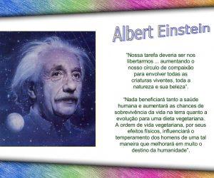 Gênio da humanidade vegetariano: Albert Einstein