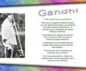 Gênio da humanidade vegetariano: Gandhi