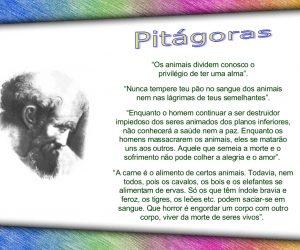 Gênio da humanidade vegetariano: Pitágoras