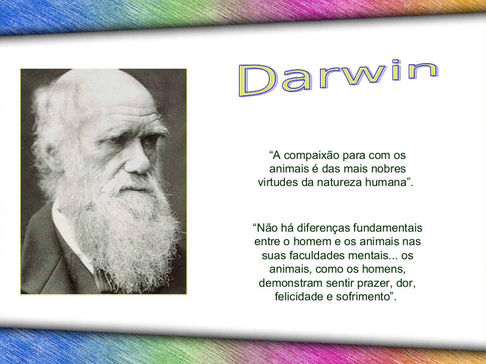 Gênio da humanidade vegetariano: Darwin